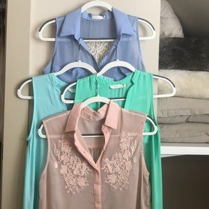Four Lush tank blouses from Nordstrom BP Size XS-S